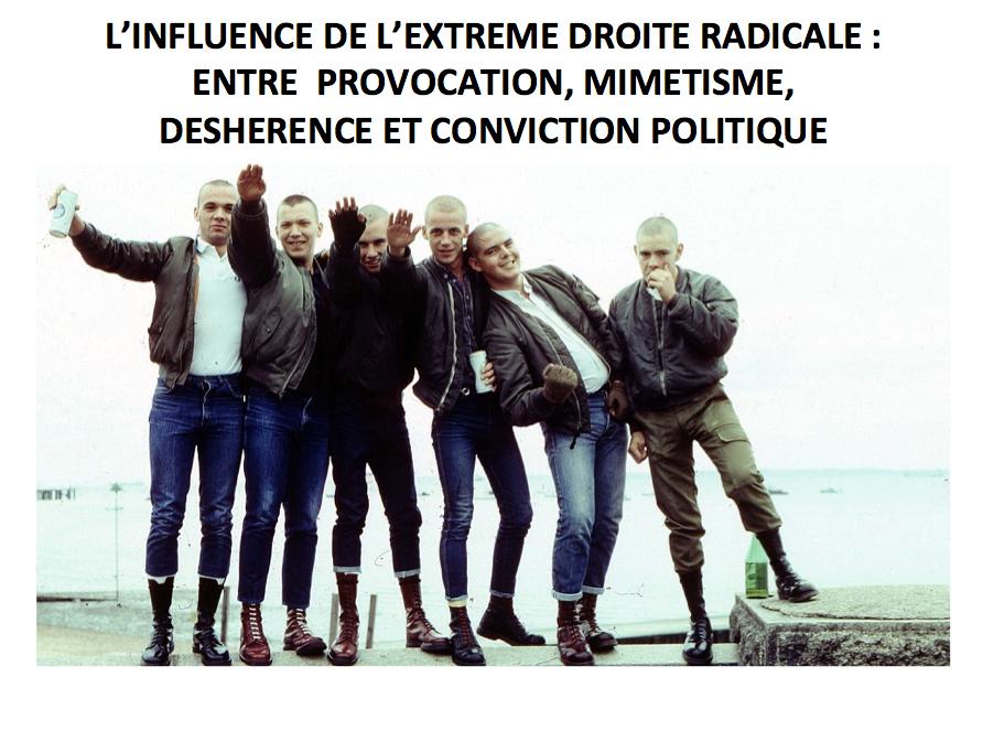 Conférence « L'influence de l'extrême-droite radicale dans la mouvance skinhead : entre provocation, mimétisme, déshérence et conviction politique »