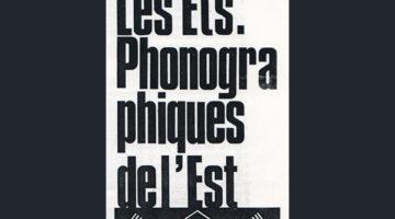 Yves-Marie Mahé - Les Etablissements phonographiques de l'Est
